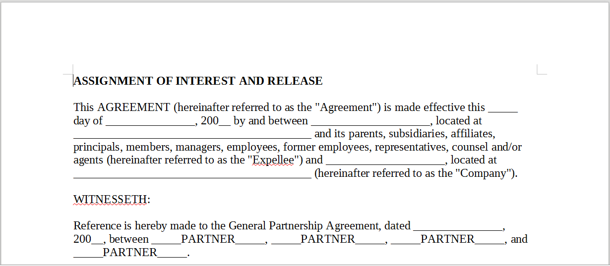 assignment of interest Assignment of membership interests each contributor shall have executed and delivered to acquirer an assignment and assumption agreement, in substantially the form.