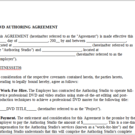 dvd authoring agreement
