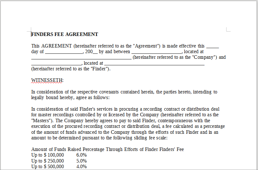 Finders Fee Agreement For Raising Capital 12 Ways On How To